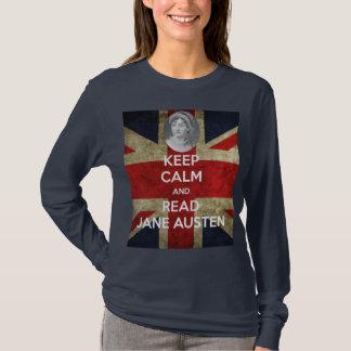 T-shirt Maintenez calme et lisez Jane Austen avec le