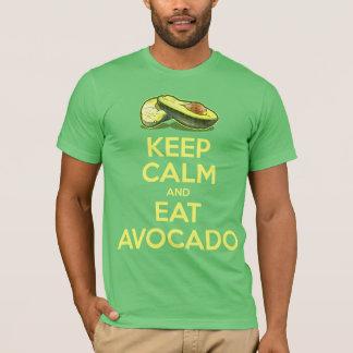 T-shirt Maintenez calme et mangez l'avocat