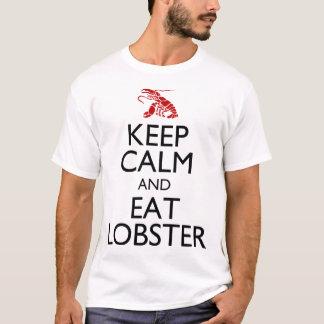 T-shirt Maintenez calme et mangez le homard
