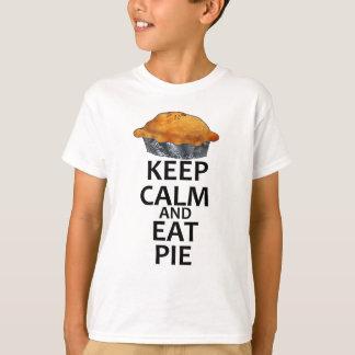 T-shirt Maintenez calme et mangez le tarte