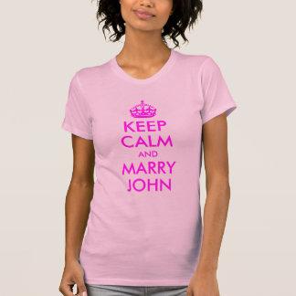 T-shirt Maintenez calme et mariez la chemise de John