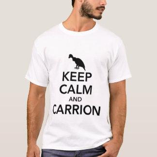 T-shirt Maintenez le calme et la pièce en t des hommes de