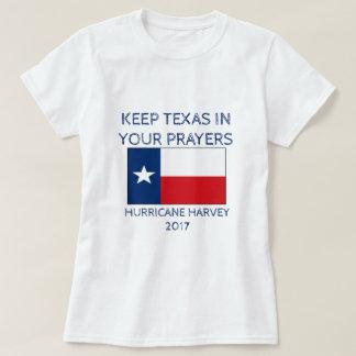 T-shirt Maintenez le Texas dans vos prières - ouragan