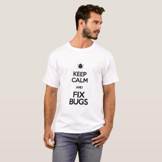 T-shirt maintenez les insectes calmes et de difficulté