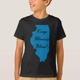 T-shirt Maintenez l'Illinois bleu ! Fierté Democratic !