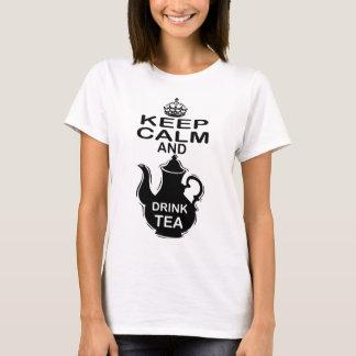 T-shirt Maintenez thé calme et de boissons