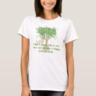 T-shirt Maintenez un arbre vert dans votre coeur et