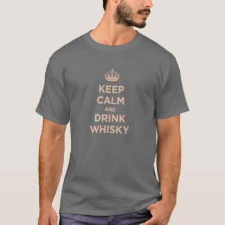 T-shirt maintenez whiskey calme et de boissons