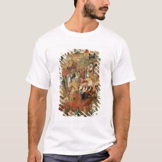 T-shirt Maire de plaza au Mexique, détail des chariots