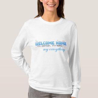 T-shirt Maison bienvenue - mon aviateur, mon héros