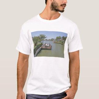 T-shirt Maisons et docks sur l'île la Floride de Marco de