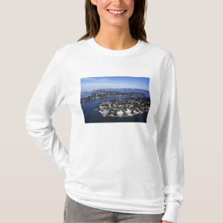 T-shirt Maisons privées d'île de baie de Biscayne, étoile