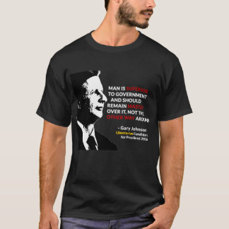 T-shirt Maître de Gary Johnson de tee - shirt de