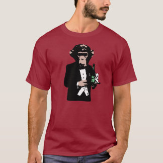 T-shirt Maître d'hôtel de singe