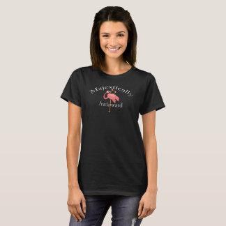 T-shirt Majestueux maladroit Introverts le flamant rose