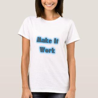 T-shirt makeiworkBLUE3BIGGER