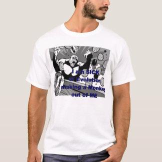 T-shirt Malade d'évolution fabriquant un singe à partir de