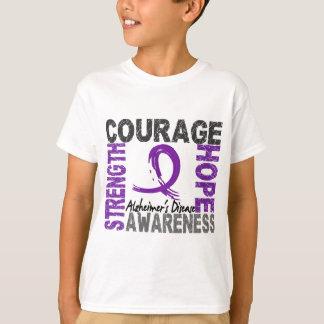 T-shirt Maladie d'Alzheimer d'espoir de courage de force