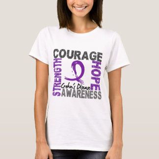 T-shirt Maladie de Crohn d'espoir de courage de force