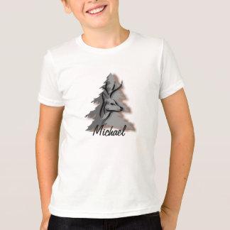 T-shirt Mâle dans les bois nom ou slogan fait sur commande