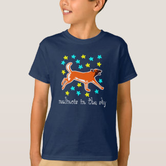 t-shirt malinois in the sky