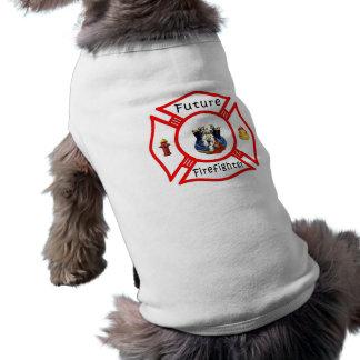 T-shirt Maltais rouge de futur sapeur-pompier