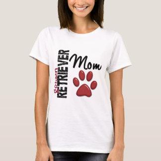 T-shirt Maman 2 de golden retriever