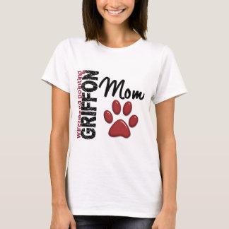 T-shirt Maman 2 de griffon de pointage à poils durs