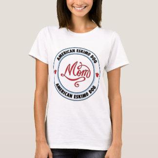T-shirt Maman AMÉRICAINE de CHIEN ESQUIMAU