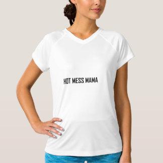 T-shirt Maman chaude de désordre