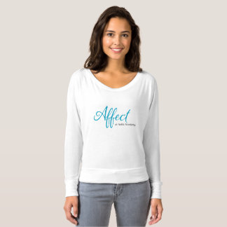 T-shirt Maman d'affect outre de la longue douille d'épaule