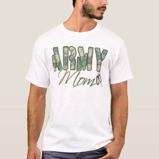 T-shirt maman d'armée avec la copie d'étiquettes de chien