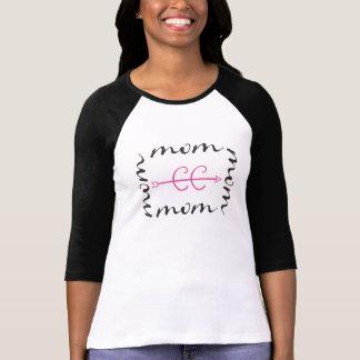 T-shirt Maman de coureur de pays croisé