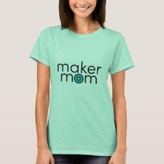 T-shirt Maman de fabricant avec l'icône turquoise de coeur