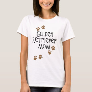 T-shirt Maman de golden retriever