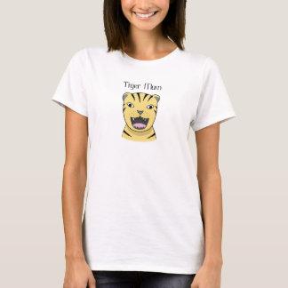 T-shirt Maman drôle fâchée de grand chat de mère de tigre