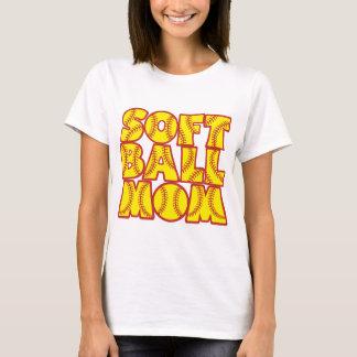 T-shirt Maman du base-ball, red&yellow