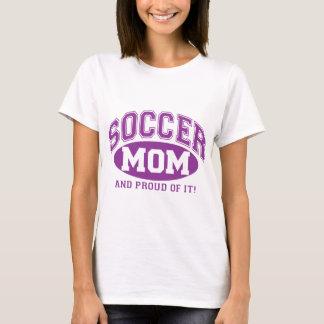 T-shirt Maman du football et fier de lui ! - Pourpre