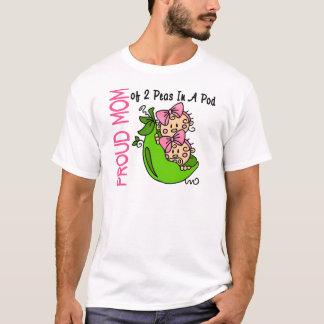 T-shirt Maman fière de 2 pois dans une cosse (filles)