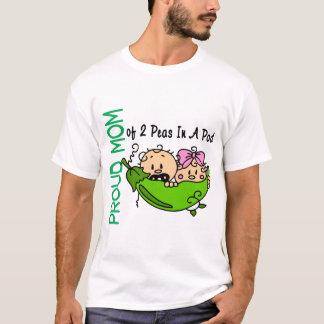 T-shirt Maman fière de 2 pois dans une VERSION 3 de cosse