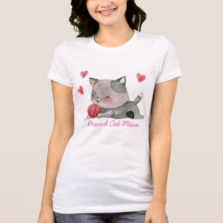 T-shirt maman fière de chat