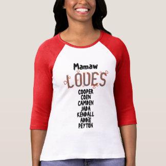 T-shirt Mamaw PERSONNALISÉ AIME ses grandkids