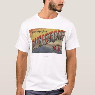 T-shirt Manasquan, New Jersey - grandes scènes 2 de lettre