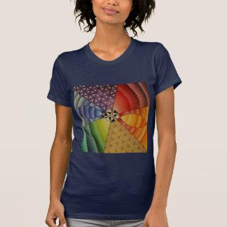 T-shirt mandala d'arc-en-ciel