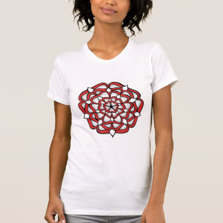 T-shirt Mandala de rouge de rose de Tudor