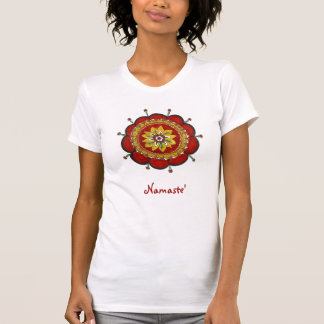 T-shirt Mandala rouge - brillez votre lumière !