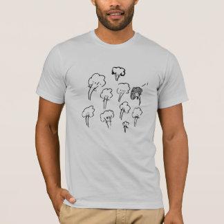 T-shirt mandelbrocc réglé sur l'argent