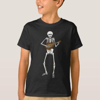 T-shirt Mandoline jouant le squelette