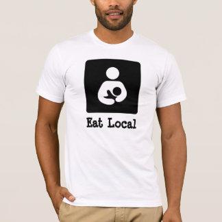 T-shirt Mangez allaiter de gens du pays/icône de soins