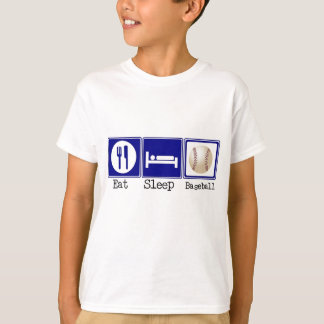 T-shirt Mangez, dormez, base-ball